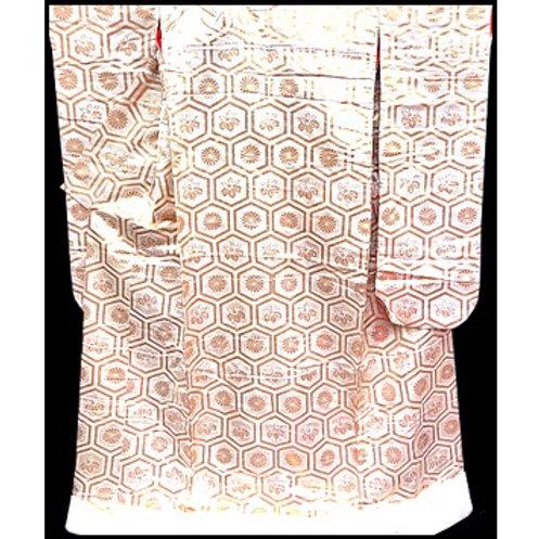 Golden Hexagons Uchikake Kimono