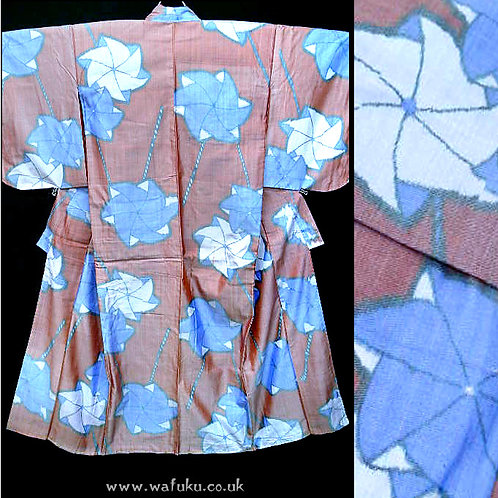 Windmills - Meisen Silk Kimono # wk794