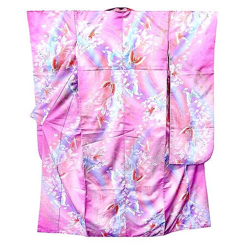 Butterflies Pink Furisode