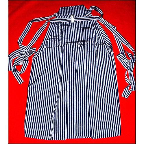 Navy & Grey Silk Umanori Hakama