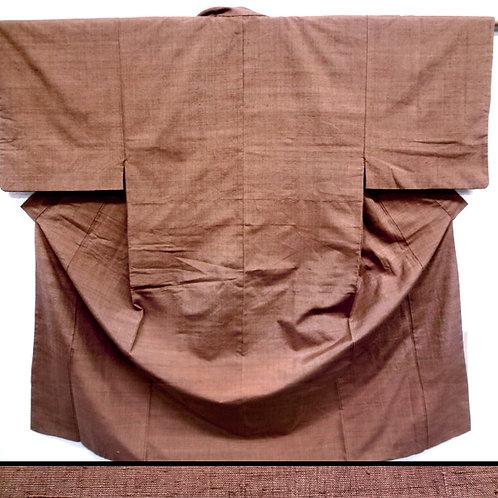 Tan Silk Mens' Lined Kimono