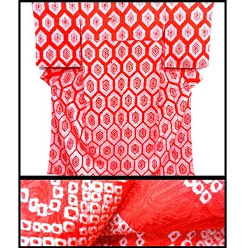 All Shibori Silk Kimono