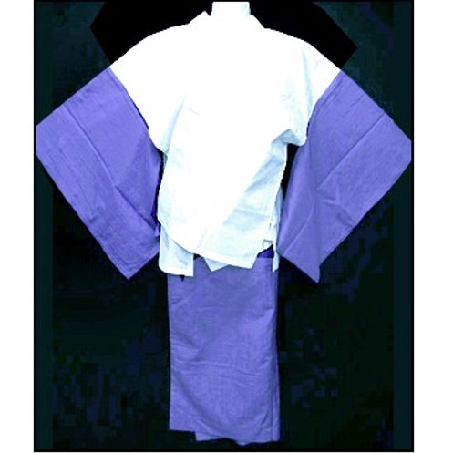 2 Part Nibushiki Naga-Juban - Purple M