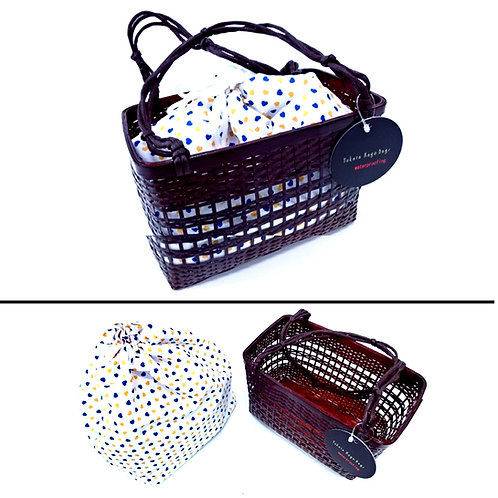 Takekago Kinchaku Bag - Hearts - A