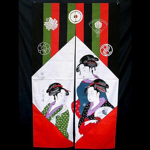 3 Beauties Noren Curtain