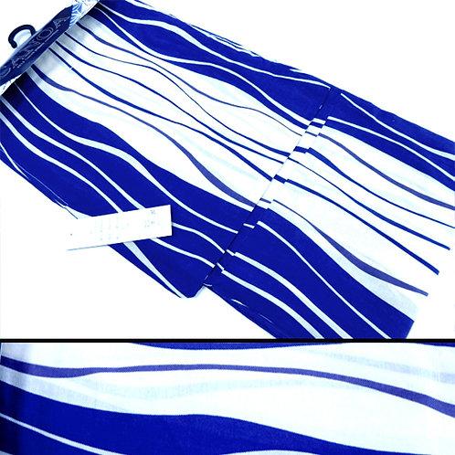 Wavy Lines Blue Yukata Kimono