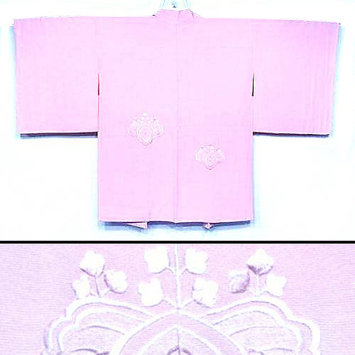 Embroidered Pink Haori
