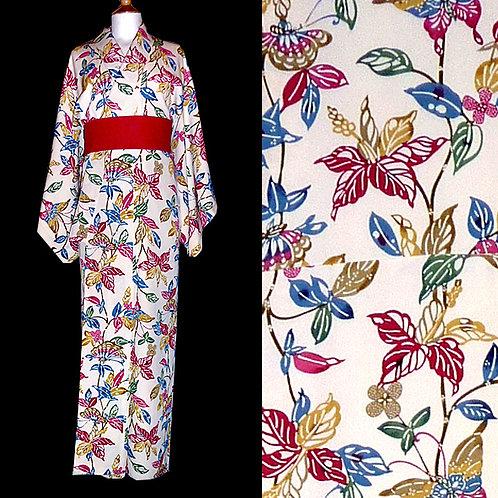 Bingata Cream Kimono