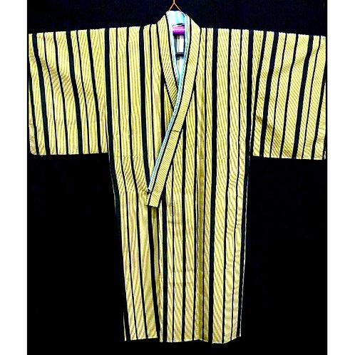 Black & Yellow Stripe Kimono