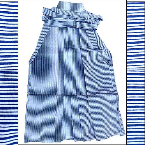Blue Stripe Silk Umanori Hakam