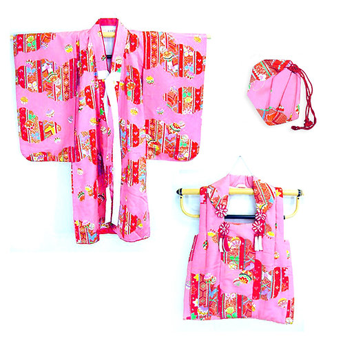 Child's Pink Patterned Kimono