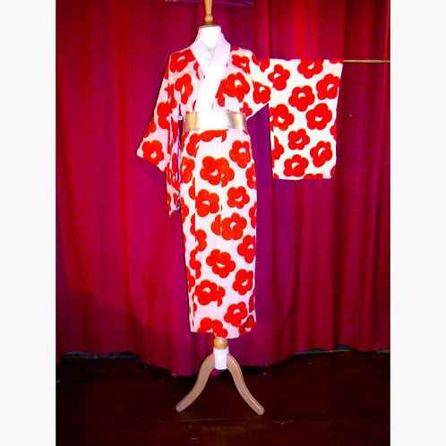 Plum Blossom Juban Kimono