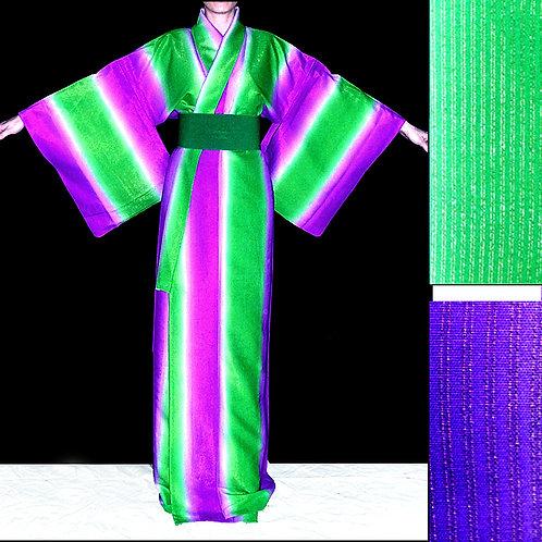 Gold in Stripes Kimono