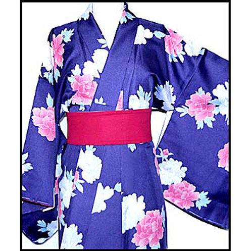 Peonies Washable New Kimono - M