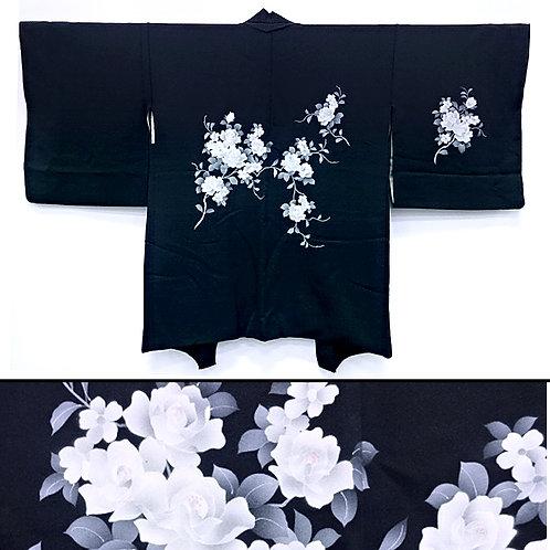 White Roses Silk Haori