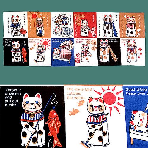 Cats & Mottos Tenugui