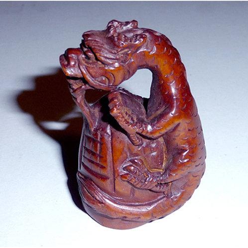 Dragon & Fire Bell Netsuke