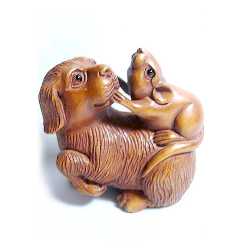 Dog & Rat Netsuke