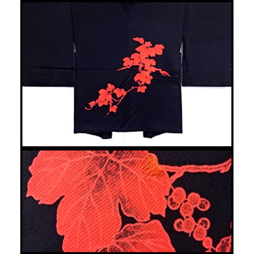 Red Grapevine Silk Haori