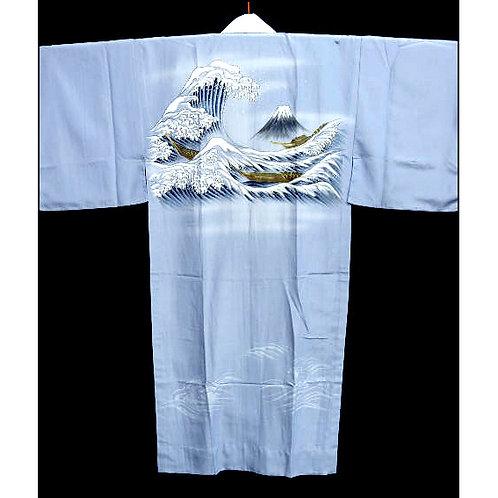 Fuji & Aranami Naga-Juban Kimono