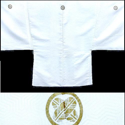 Gold Mon White Haori