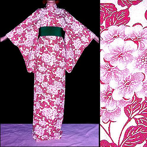 Hydrangea Komon Kimono