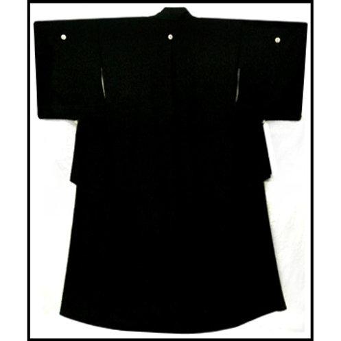 Kuro -Tomesode Black Silk Kimono