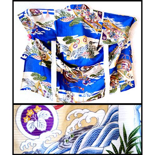 Baby's Silk Hitoe Kimono