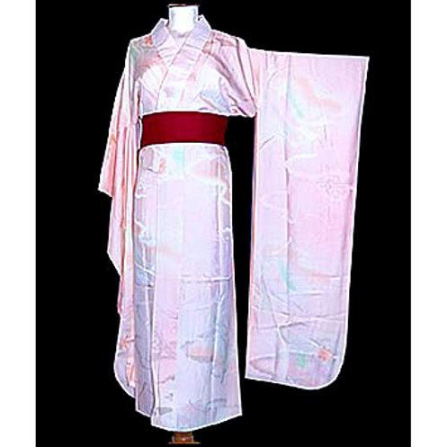 Shaded Furisode Silk Juban Kimono