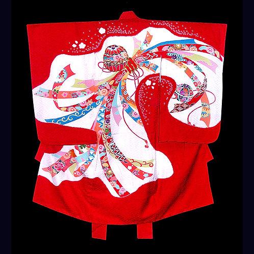Tabane Noshi Red Silk Kimono