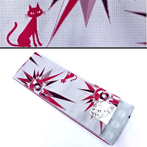 Cats & Starbursts Hanhaba Obi - Grey