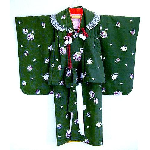 4 Piece Children's Kimono Ensemble