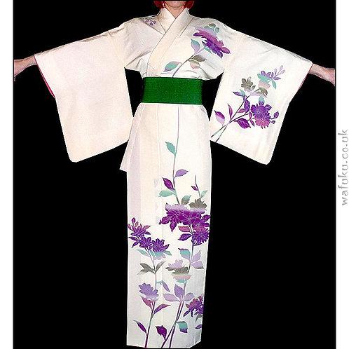Cream Floral Kimono
