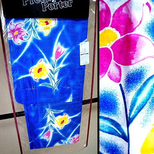 Floral Blue Yukata Kimono