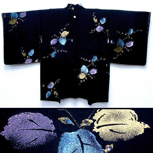 Metallic Leaves & Butterfly Mon Haori
