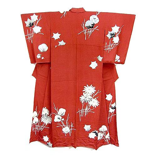 Kinsha Silk Floral Kimono