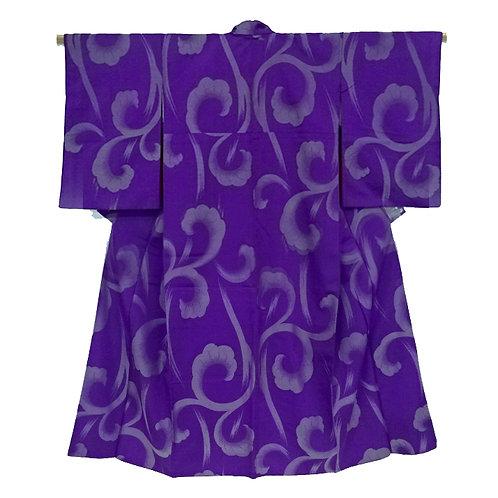 Arabesque Curls Purple Kimono