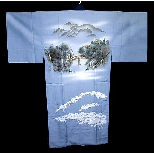 Bridge Scene Naga-Juban Kimono