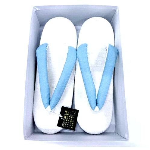 Linen Blue & White Zori