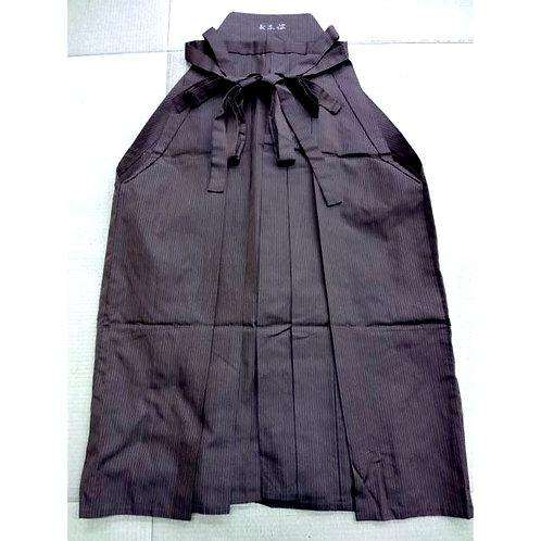 Striped Brown Umanori Hakama - Silk