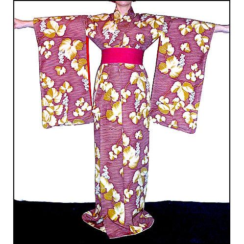 Grapevines Antique Kimono