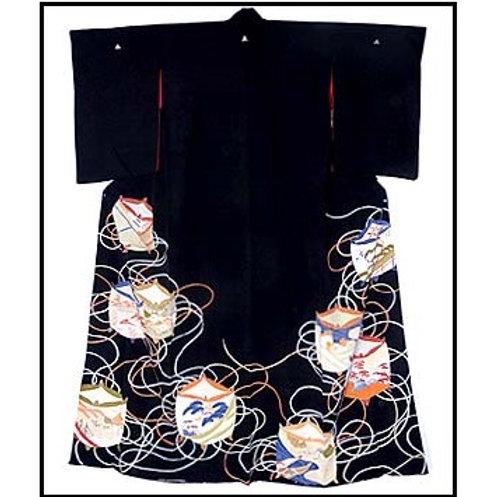 Geisha's Itomaki Design Hikizuri kimono