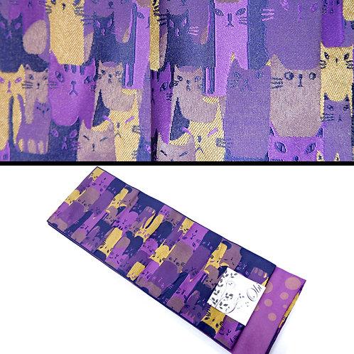 Crowds of Cats Hanhaba Obi - Purple