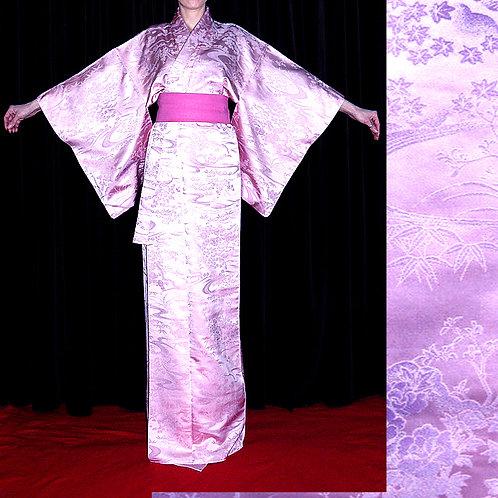 Pink & Mauve Silk Kimono