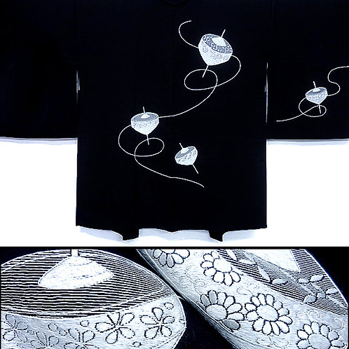 Embroidered Spinning Tops Haori