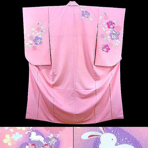 Bunny Pink Ko Furisode