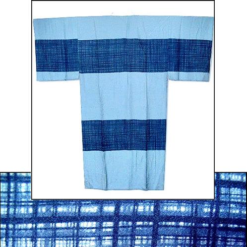 Blue Silk Naga-Juban Kimono