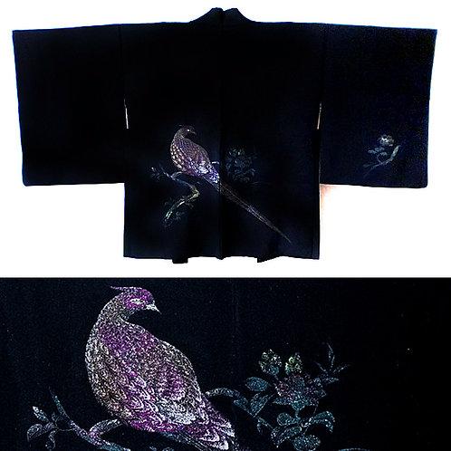 Pheasant Black Haori