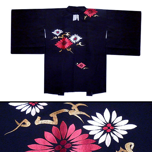 Embroidered Hanabishi Haori