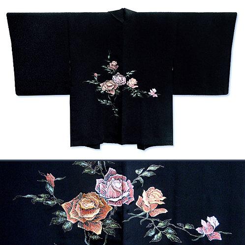 Embroidered Roses Haori